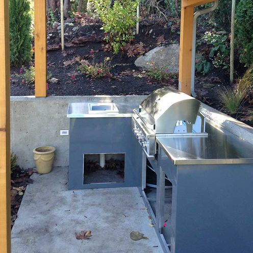 outdoor sink and countertop
